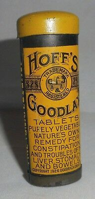 1926 Hoff's Goodlax Tablets Tin From Goodrich Gamble Co -RARE-