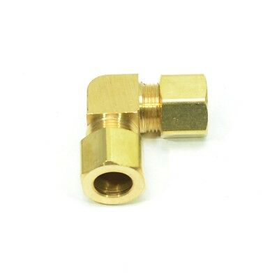 "1/2"" Tube OD Compression Elbow Copper Pipe Tube Fitting Joiner Water Oil Gas"