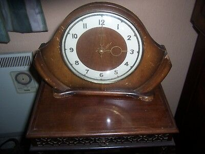 Vintage Smiths  Mantle Clock Needs Attention