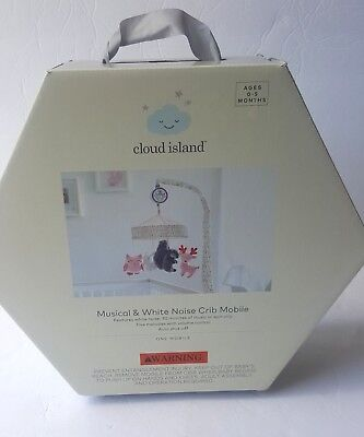 Cloud Island Musical & White Noise Crib Mobile Features White Noise- Open Box