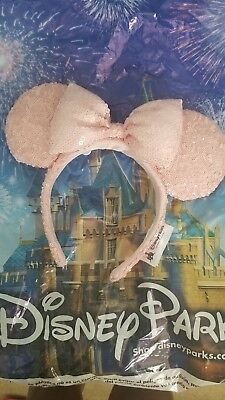 Disney Parks Authentic  Minnie Mouse  Millennial Pink Headband Ears