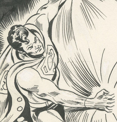 Dick Dillin, World's Finest 236 page 17, Superman! Atom!, NO RESERVE!