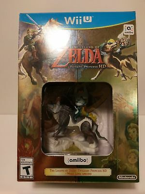 The Legend Of Zelda Twilight Princess HD with Wolf Link / Midna Amiibo  Wii U