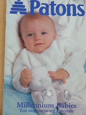 be616e195 PATONS MILLENNIUM BABY Knitting Pattern Booklet DK+4Ply Chest 16-21 ...