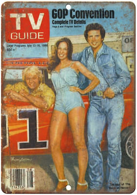 """Dukes of Hazzard TV Guide Vintage Ad 10"""" x 7"""" Reproduction Metal Sign I23"""