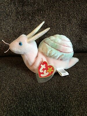 cecd6e52bca TY Beanie Baby SWIRLY THE SNAIL (6 inch) Stuffed Animal Toy 1999 With Errors