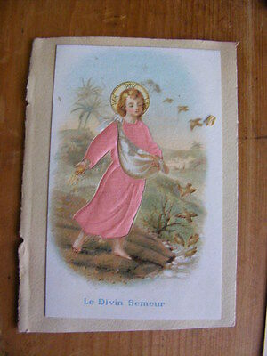 Image Chromo Cutting embossed dressed silk 19th the divin sower