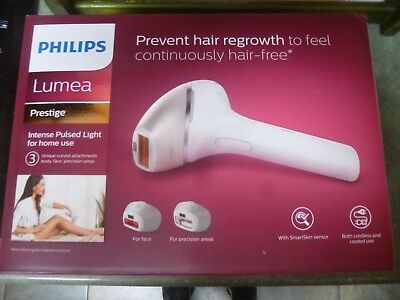 Philips Lumea Prestige IPL Hair Removal Device Body Face Cordless BRI953/00