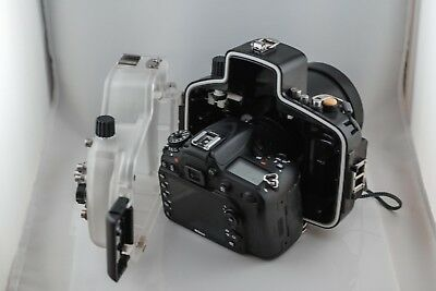 Nikon D D7100 24.1MP Digital SLR Camera - Black (Body Only) With water housing!