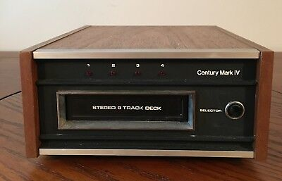Vintage Century Mark IV Model 485 8 Track Player Made in Japan-Parts or Repair