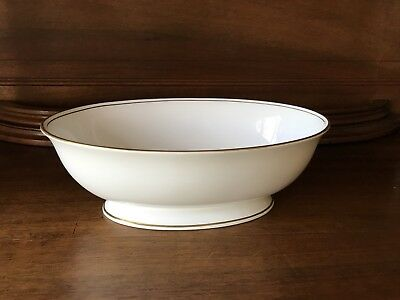 """Lenox FEDERAL GOLD 9"""" Oval Vegetable Bowl (Retired/Discontinued)"""