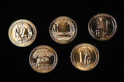 2013-2014 BU S Mint Clad ATB 5 Coin Sets--10 Total Coins