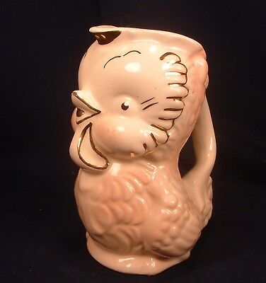 Shawnee Pottery Baby Chick Owl Bird Cream Pitcher