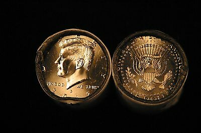 2012 P&D Brilliant Uncirculated Kennedy Half Dollar 2 Coin Set from Mint Rolls