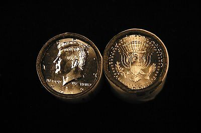 2013 P&D Brilliant Uncirculated Kennedy Half Dollar 2 Coin Set from Mint Rolls
