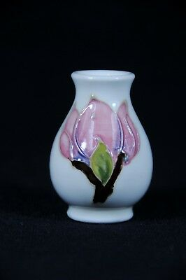 Miniature Moorcroft Vase with beautiful pink flowers