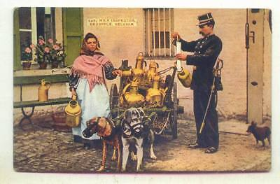 The Milk Inspector Brussels BELGIUM *DOG CART OLD EARLY*