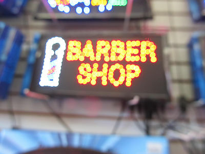Barber Shop, LED neon open sign, store sign,business sign,hair cut ,beauty salon