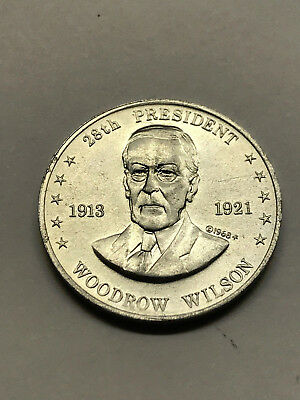 1968 Shell's Mr. President Game Token Wilson Ex. Condition #12733