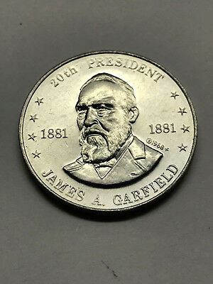 1968 Shell's Mr. President Game Token Garfield Ex. Condition #12733