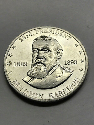 1968 Shell's Mr. President Game Token  Harrison Nice Condition #12741