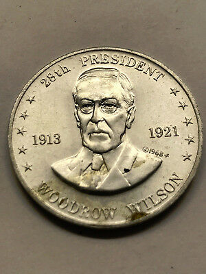 1968 Shell's Mr. President Game Token Wilson Nice Condition #12745