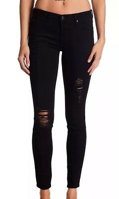 Articles of Society Sarah NEW Black Women's Size 24 Distressed Skinny Jeans $68