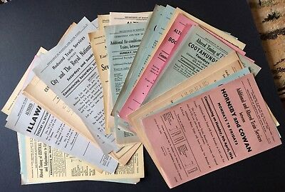 41 Flyers (some repeats) - Timetable Changes NSW Railways - 1956