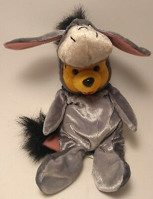 Winnie The Pooh Dressed as Eeeyore Limited Edition Plush With Tags Theme Park