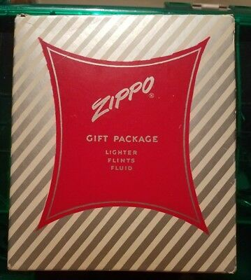 Vintage Zippo Lighter Gift Package Complete -- Unfired