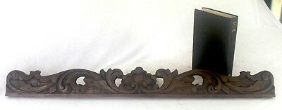 Heavy Carved Wooden Element 31 inch