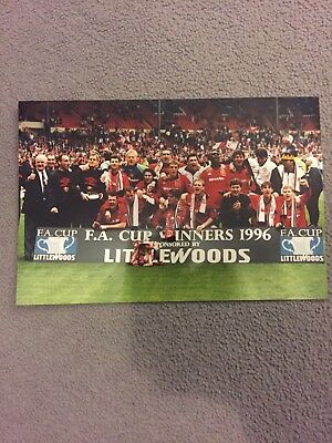 Manchester United Littlewoods FA Cup Winners 1996 Photograph