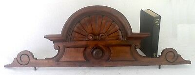 Eastlake Style Carved Wooden Pediment 33 inch