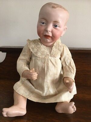 "Antique bisque head Kaiser german 13"" baby doll"
