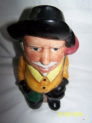 Toby Character Jug Staffordshire Fine Ceramics Hand Painted ~ Porthos ~ 18.5cms