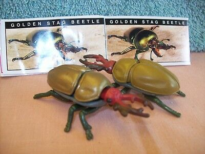 Yowies Series 3 Very Rare * Golden Stag Beetle Pair With Papers ,