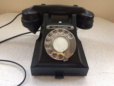 Bakelite Vintage Telephone With Drawer And Exchange Button