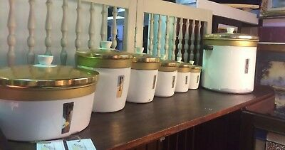 1960's Waratah De-luxe Kitchen Canisters - Full Set