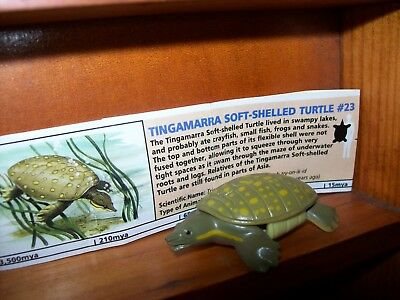 Yowies Rare Prehistoric, Lost Kingdom A * Tingamurra Soft Shell Turtle+ Papers