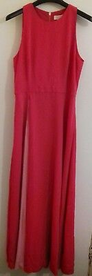 a142d7cdff1c64 Y32  Ted Baker Madizon Contrast Pleated Panel Maxi Dress UK 3 RRP £239.00