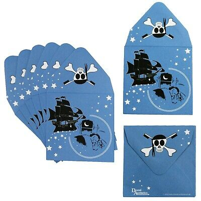 Pirate Tooth Fairy Envelopes (Set of 16) Childrens Kids Boys Teeth Pillow Reward