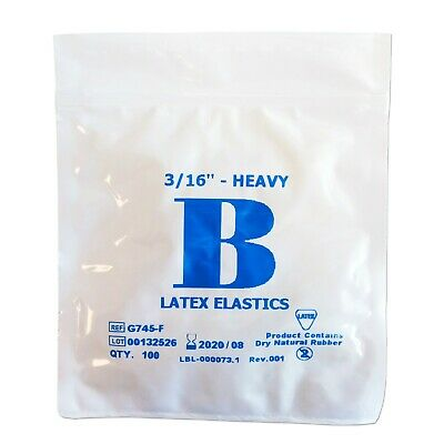 Orthodontic Elastic Bands ~ Latex ~ 3/16 4.5oz Close Gap In Your Teeth Elastics