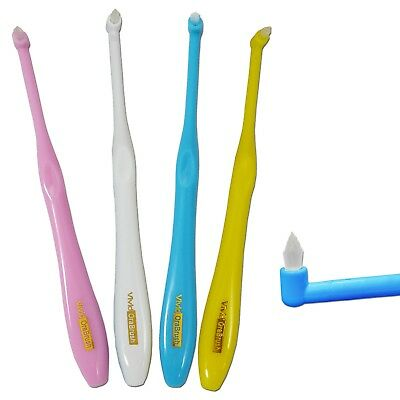 2 x Vivid Interspace Toothbrush ~ TuftedEnd Orthodontic for Braces Between Teeth