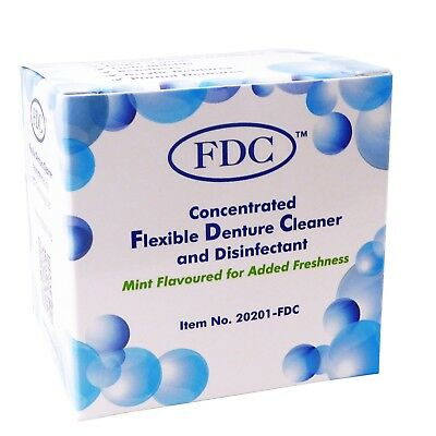 Flexible Denture Cleaner FDC ~ 1 Box of 12 Sachets 3 Months Valplast Cleaning