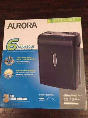 New Aurora Crosscut Paper Shredder 6 Model Wm675Xb