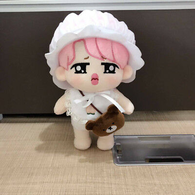 Bangtan Boys KPOP BTS Plush Pink Wronged JIMIN Doll Toys + 2 sets clothes Gift