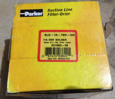 New PARKER Suction Line Filter Drier SLD13-7SV-HH 031593‑08