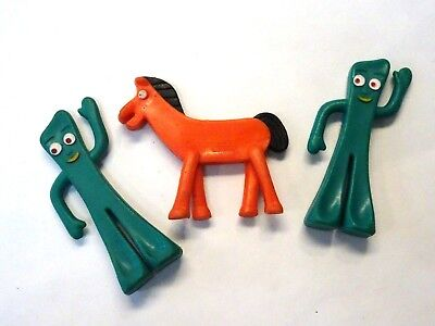 Vintage Fun Jesco/Prema Mini Gumby & Pokey Bendys 3pcs