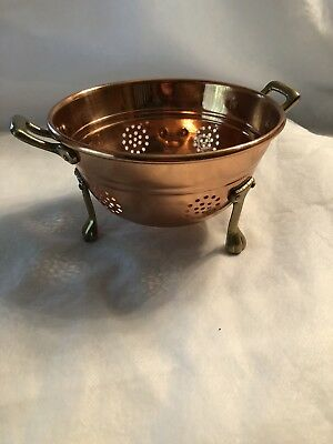 Vintage Copper and Brass Colander