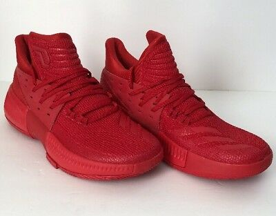 on sale 0c403 fd775 Adidas Dame 3 III Lillard Basketball Shoes Size 9 Triple Red (BB8337)